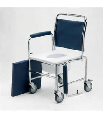 Roma Medical Height Adjustable Drop Arm Mobile Commode